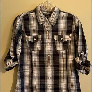 Tommy Hilfiger Plaid Button Up Western S